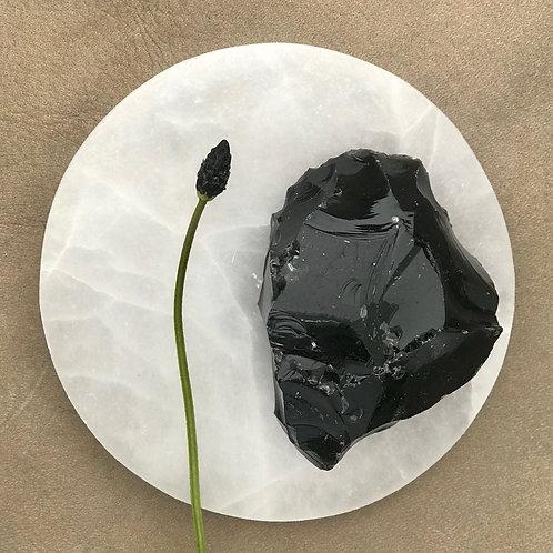 Obsidian, rå