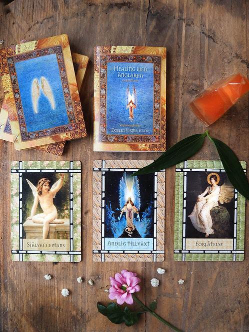 Healing med änglarna orakelkort finns på House of Indra