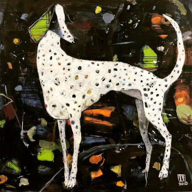Glitter painting by Ilya Volykhine.