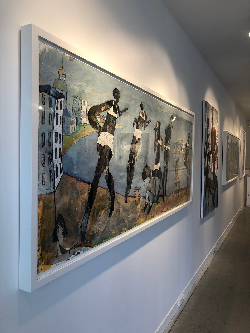 Works on paper in gallery.