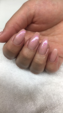 Nude opal nails