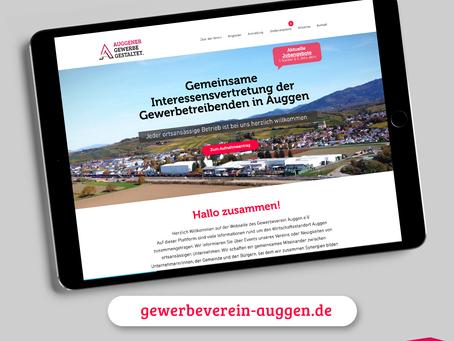 Der Gewerbeverein Auggen präsentiert neue Webseite mit Stellenportal.