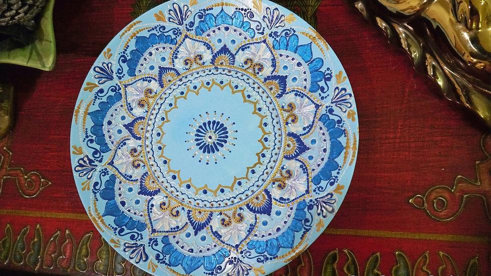 Home Decor Wall Plate - Hand Painted Mandala Art