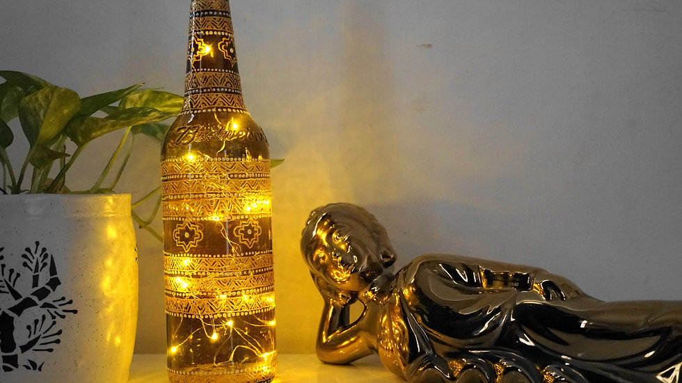 Bottle Lamp Pair