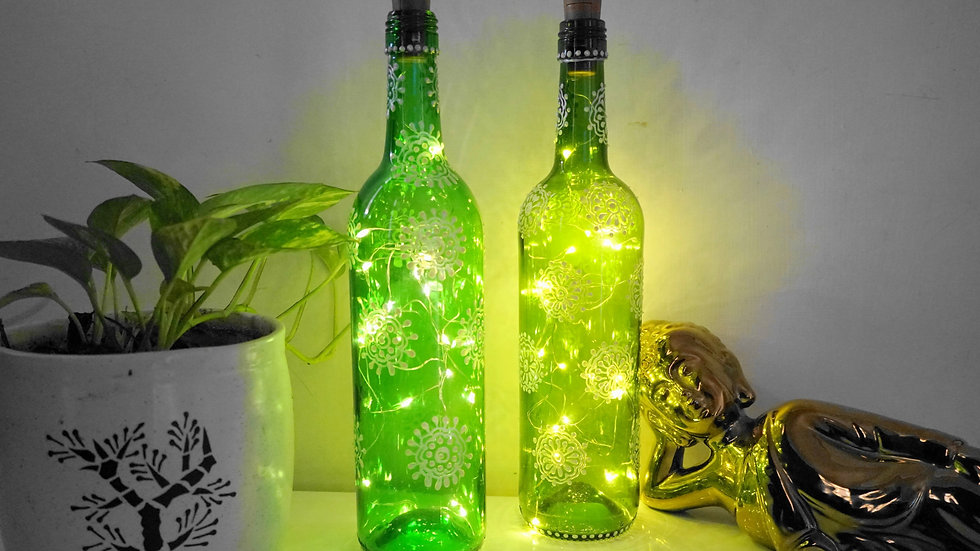 Bottle Lamp Pair