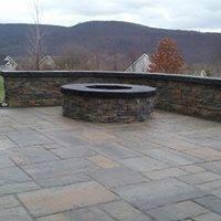 Custom stone + Custom stone fire place + Custom pavers + Retiaing wall + Fire place + stone work
