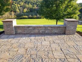 Custom pavers + Stone work + deck + Stone deck + pavers