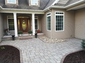 Walkway + Stone + pavers + curb appeal + Retaining wall