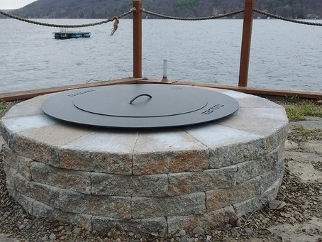 Stone Fire Pit.