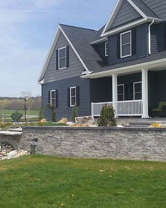 Retaining wall + landscaping + Curb Appe