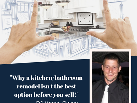 Why a kitchen/bathroom remodel isn't the best option before you sell!