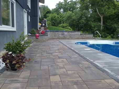 Pool Side Patio Landscaping Makeover by Preferred Landscaping
