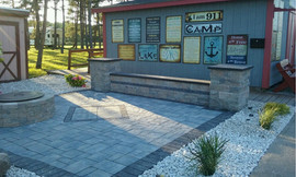 Custom Stone and Paver patio