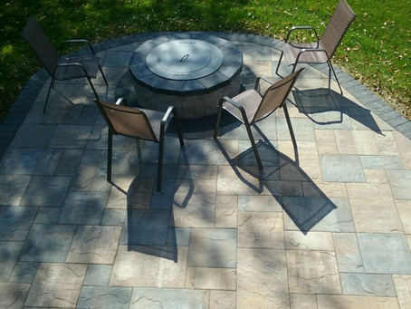 Custom Paver Patio With a Fire Pit and Landscaping
