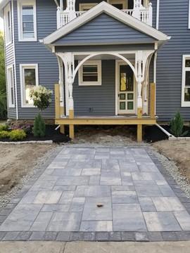 Walkway + Driveway + Deck + Awning + Pavers + Custom Pavers