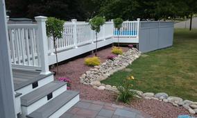 Custom Deck + Curb Appeal + Fence + Pool + Stone work