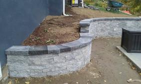 Retaining wall + Paver + stone + Custom stone