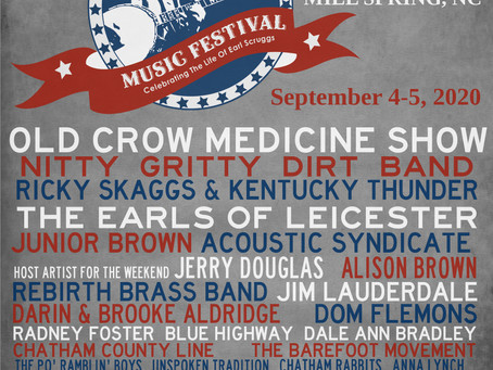 Earl Scruggs Music Festival Announces Two New Headliners:Old Crow Medicine Show & Ricky Skaggs