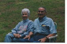 Granny and Papa at a festival