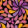 In a Spin - orange, purple, black