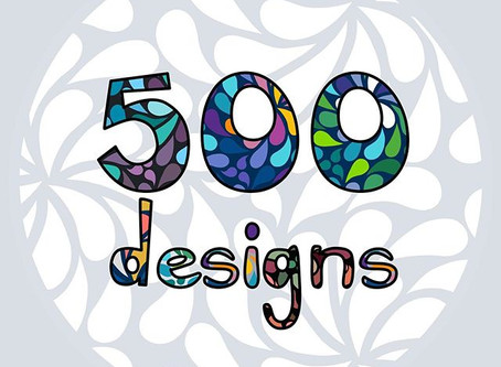 500 designs and a brand new website