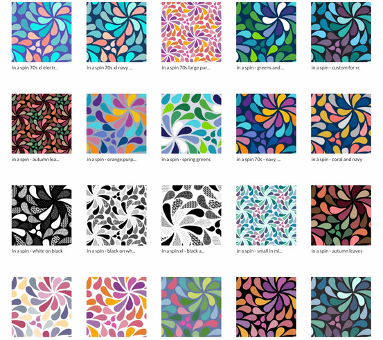 'In a Spin' My signature design looks great in many different colourways