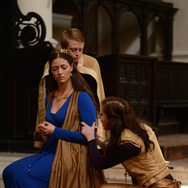 RICHARD II, photo by Patrick Dodds pictured with Siobhan Gerrard, Elliot Blagdan