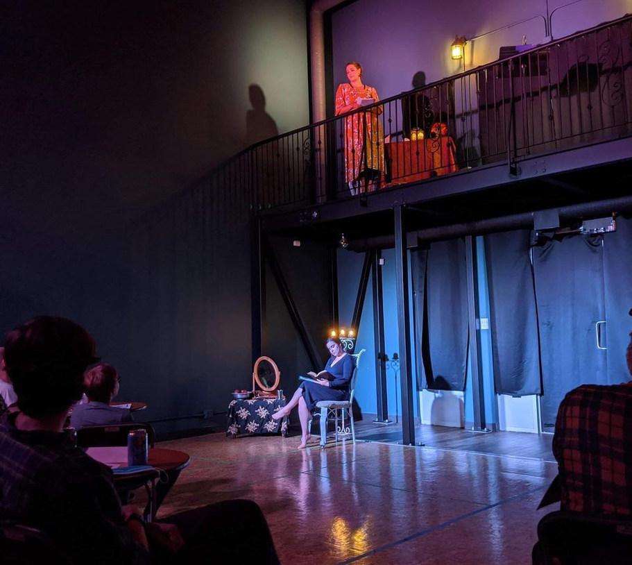 Danielle LaRose & Harmonie Tower performing SOROR CARA, photo by Jenn Townsend