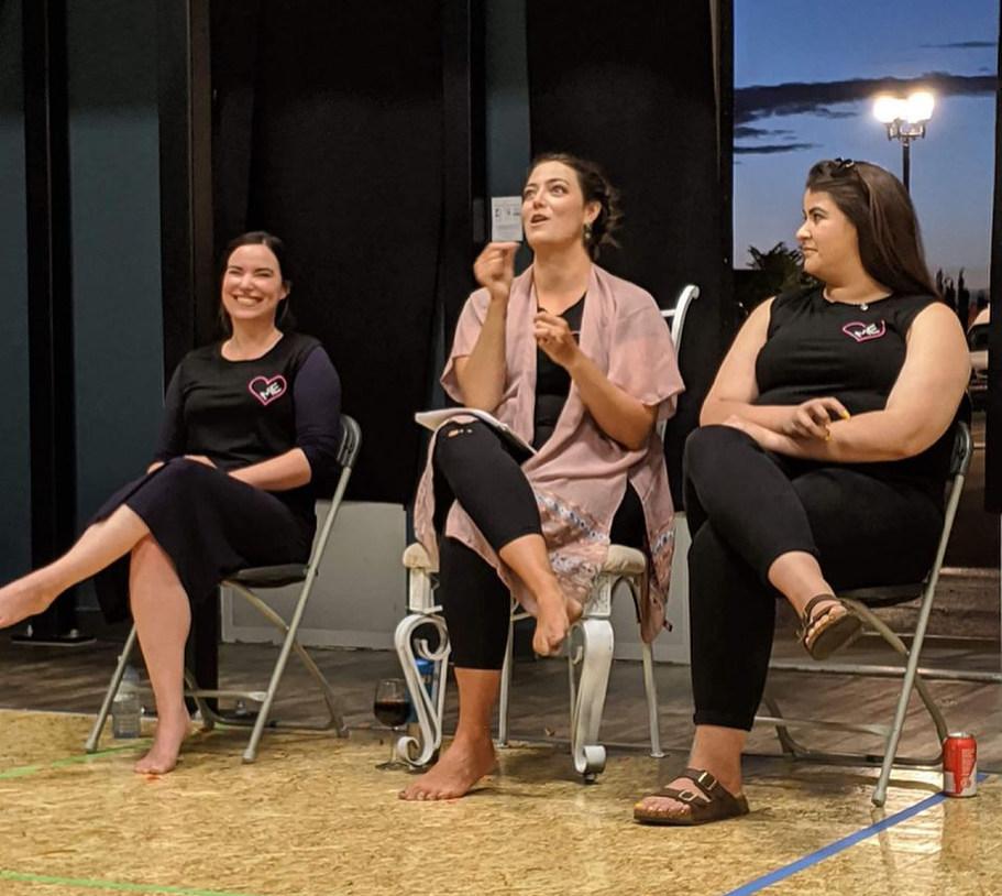 SOROR CARA talk-back featuring Harmonie Tower, Danielle LaRose, & Jordan Campion, photo by Jenn Townsend