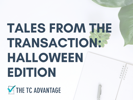 Tales from the Transaction - Halloween Edition