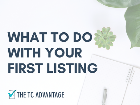 So, You've Got a Listing