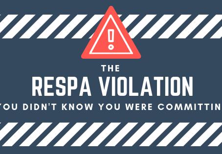 The RESPA Violation You Keep Committing