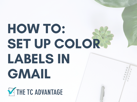 HOW TO: Set Up Gmail Color Labels
