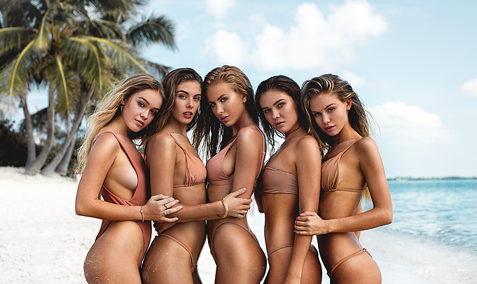 Cambrie Schroder, Scarlett Leithold, Renee Somerfield, Carmella Rose and Faith Schroder - Nassau, Bahamas