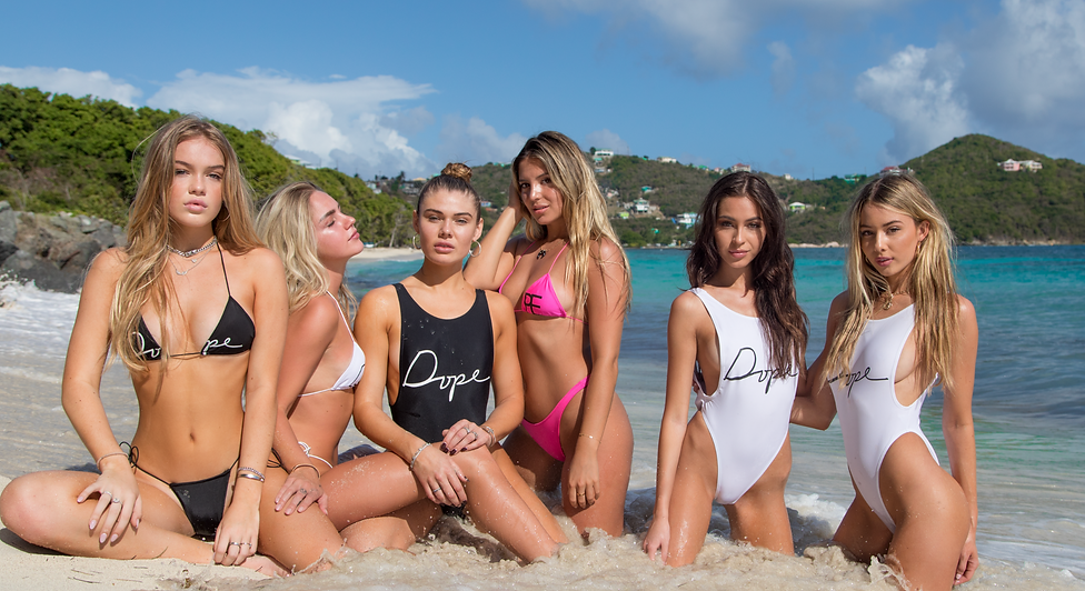 Cameron Rorrison, Cambrie and Faith Schroder, Sarah Kohan, Celeste Bright and Maddie Louch - St. Lucia