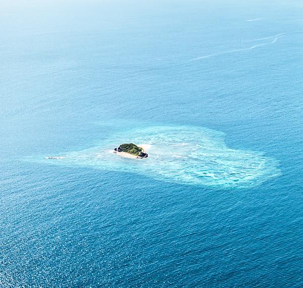 Fiji Heart Island Aerial