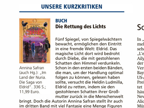 Pressestimmen: Im Land der Nuria im Münchner Merkur am 30.11.2020