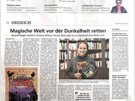 Pressestimmen: 02. Januar 2021 Annina Safran in der Offenbach-Post