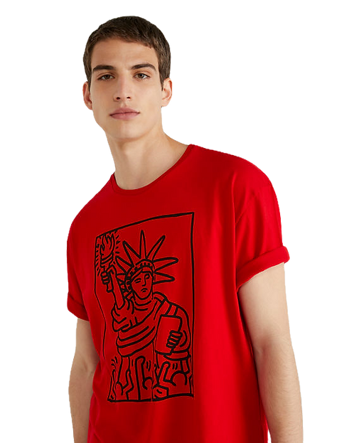 "T-SHIRT RED ""Keith Haring"""