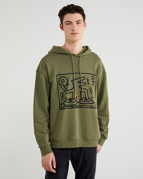 CANGURO KEITH HARING VERDE MILITAR