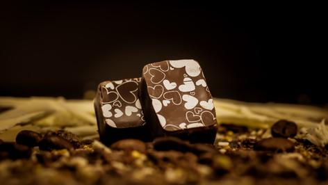 """Bombon Belga """"rellenos del mundo"""" con ganache al 64% de cacao de Perú."""