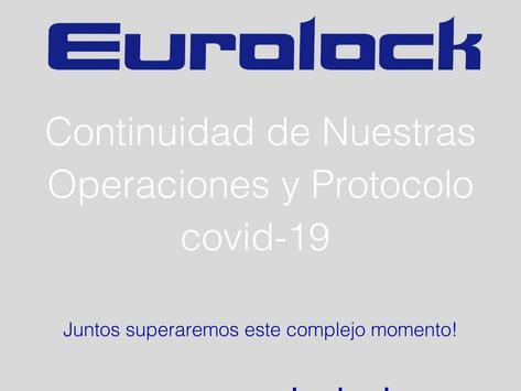 Continuidad de nuestras operaciones y protocolo covid-19