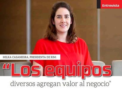 LA REVISTA MINERÍA CHILENA ENTREVISTO A NUESTRA PRESIDENTE, MILKA CASANEGRA