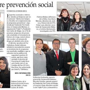 Seminario sobre Prevención Social