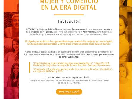 """""""Cumbre Mujeres y Comercio en la Era Digital"""" APEC 2019"""
