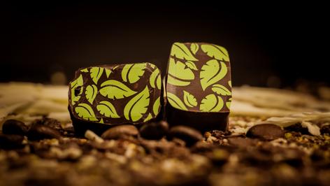 """Este es uno de las 5 variedades """"rellenos del mundo"""". Corresponde a un ganache de Ecuador con 71% de cacao y bañado con el mismo tipo de chocolate."""