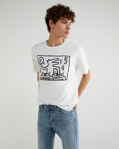 """T-SHIRT con estampado de """"Keith Haring"""""""