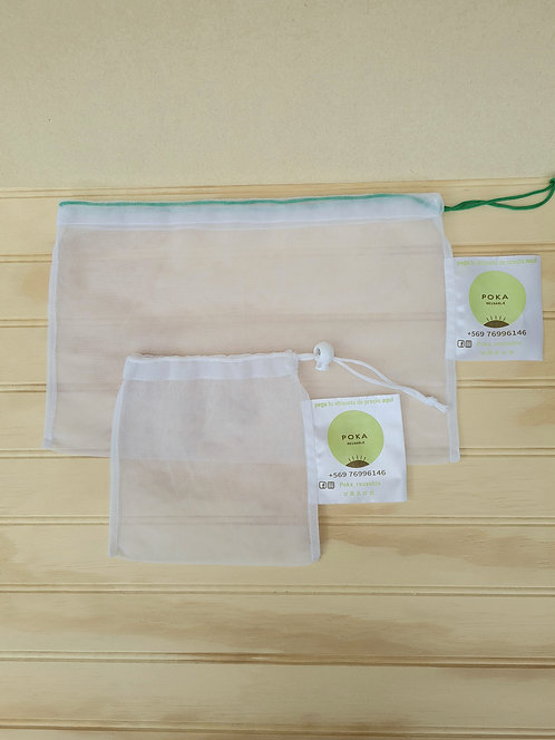 PACK 2 Bolsas POKA reusable