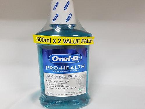ORAL-B PROHEALTH MOUTHWASH MINT FLAVOUR 1+1 PACK