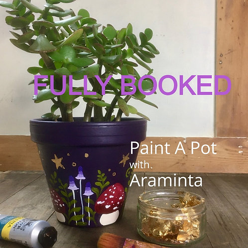 Paint a Plant Pot, Painting Workshop, 29th May, 10am